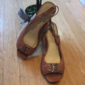 ANNE KLEIN Slingback Open-Toe Heels Sandals